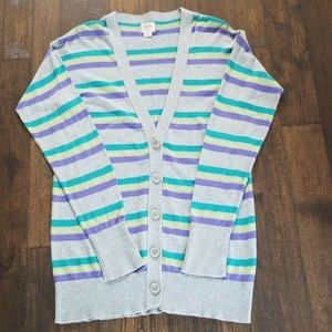 Mossimo Striped Button Front Cardigan.